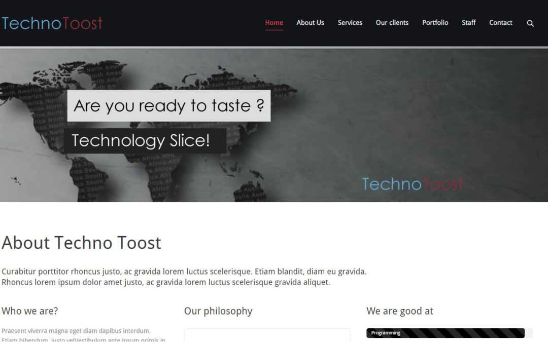 Technotoost Website