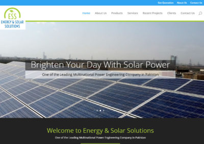 Energy & Solar Solution Website